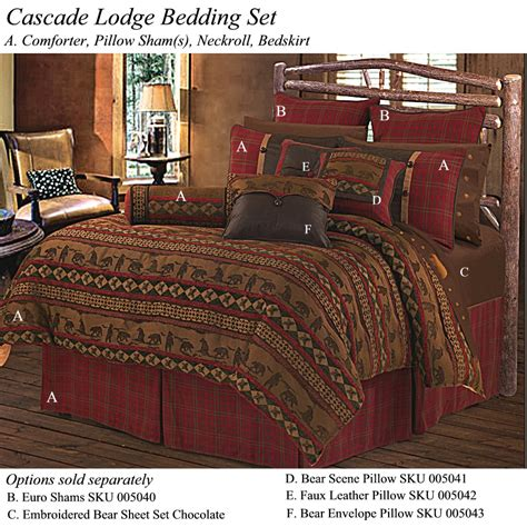 Rustic Cabin Bedding by Cascade Lodge Cabin Bedding Rustic Comforter