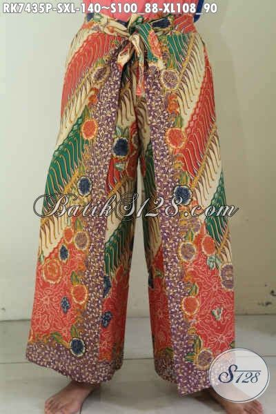 Layer Celana produk terbaru celana batik kulot mode layer pakaian