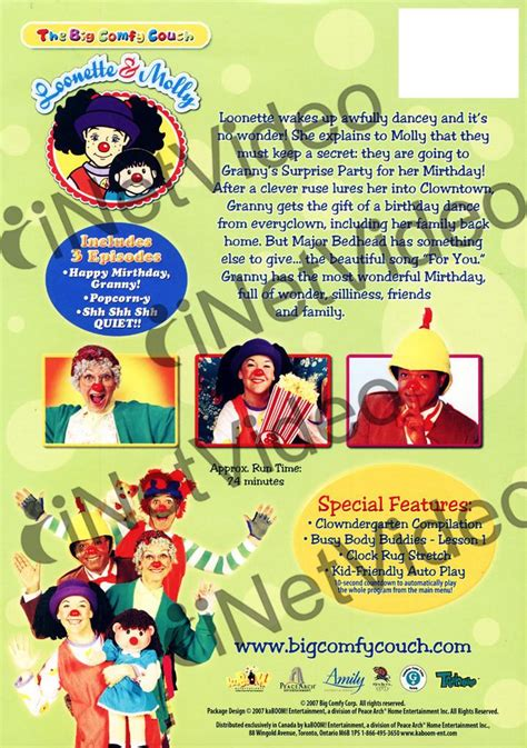 the big comfy couch games the big comfy couch birthday party time on dvd movie