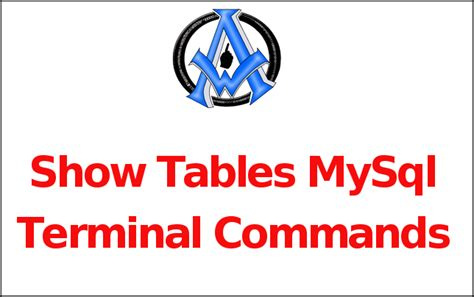 show tables mysql terminal commands