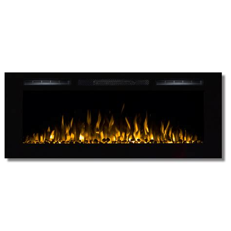 50 Electric In Wall Recessed Fireplace Heater by Fusion 50 Inch Built In Ventless Heater Recessed Wall