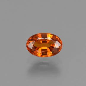 Spessartite Garnet 8 76ct 0 8 carat oval 6 1x4 2mm 0 and untreatedorange