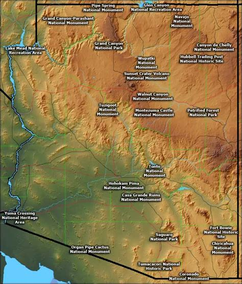 service arizona national park service national monuments in arizona