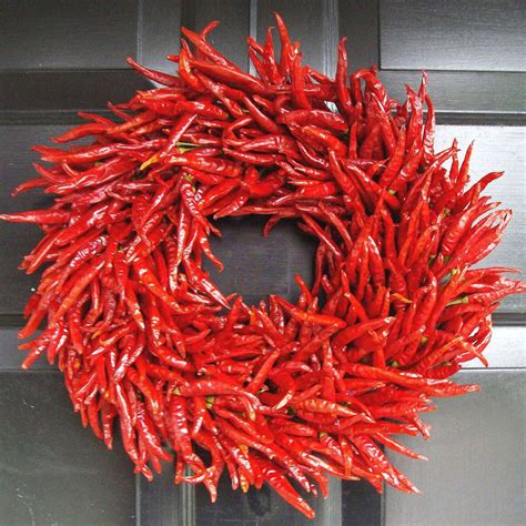 chileanchristmas decor organic chili pepper wreath the green