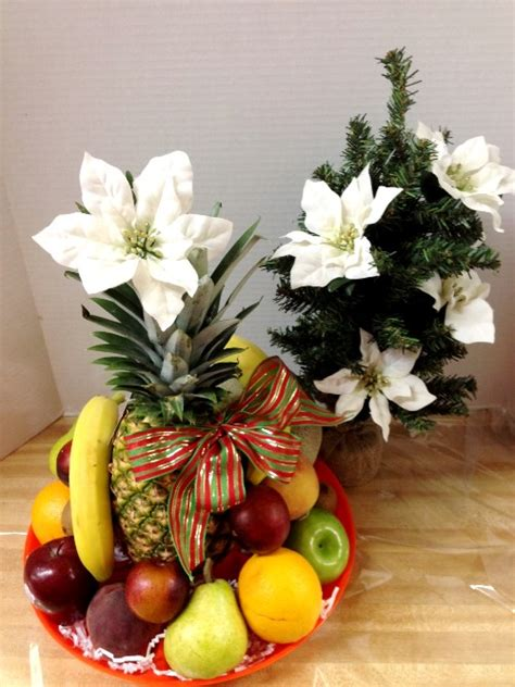fresh fruit basket with a christmas tree phoenix az