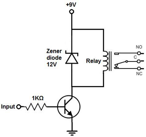 pnp transistor relay driver pnp transistor als schakelaar forum circuits
