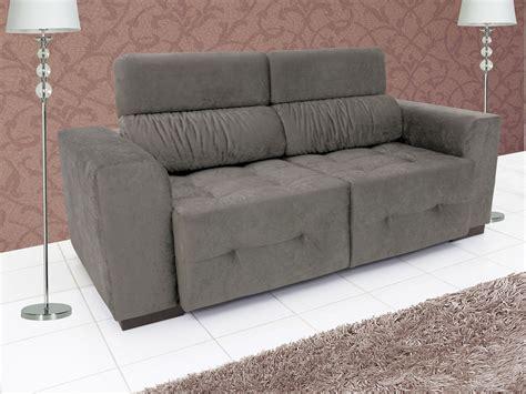 sofa retratil e reclinavel sof 225 retr 225 til e reclin 225 vel 3 lugares suede benito