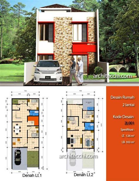 desain rumah  lantai desain rumah lebar  meter desain rumah  kamar tidur desain rumah type