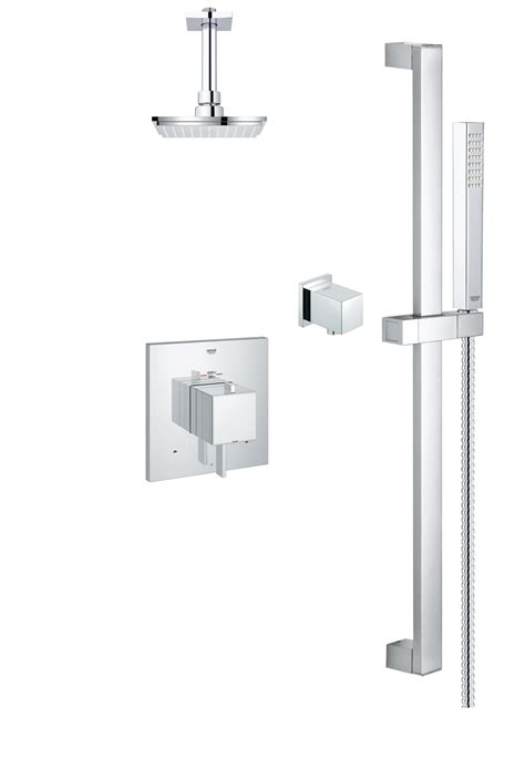Affordable Kitchen Faucets by Grohe Modern Square Thm Dual Function Shower Kit 118050