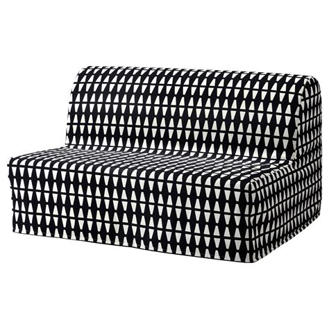 Ikea 2 Seater Sofa Bed Lycksele H 197 Vet Two Seat Sofa Bed Ebbarp Black White Ikea