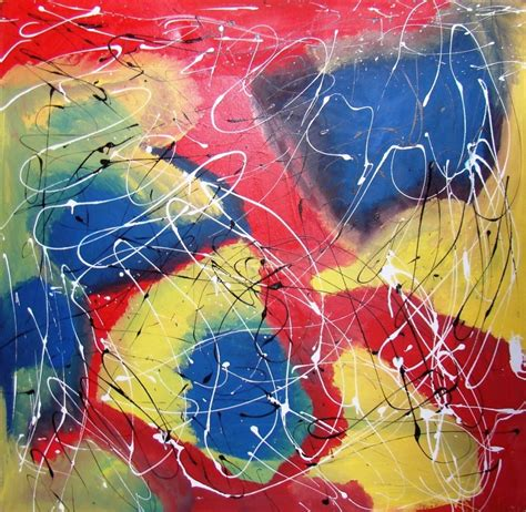 how to splatter acrylic paint on a canvas modern abstract acrylic painting with splatter effect