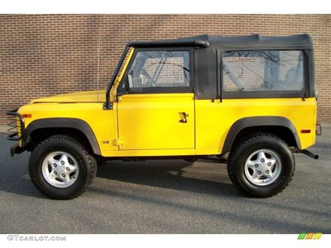 land rover yellow aa yellow 1997 land rover defender 90 top exterior