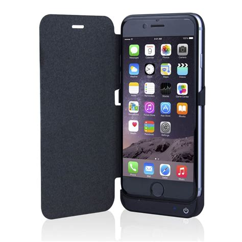 iphone 6s 4 7 quot 3000mah extended battery flip cover backup power bank ebay