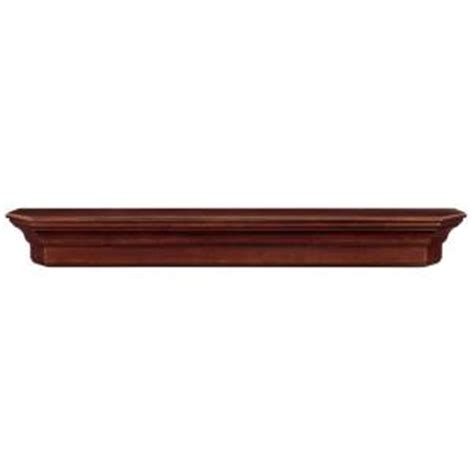 the lindon 6 ft cherry distressed cap shelf mantel 490 72