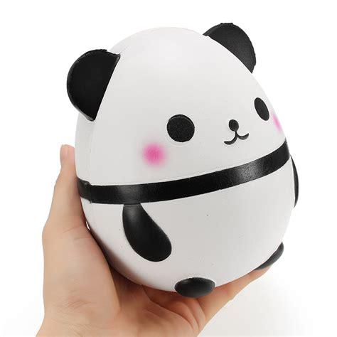 Panda Egg Squishy squishy panda doll egg jumbo 14cm rising with