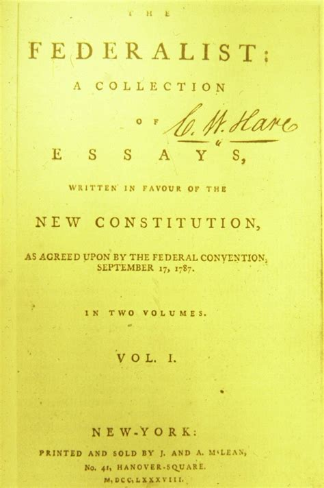 The Papers introduction to the federalist teaching american history