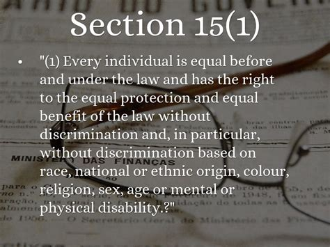 what is section 1 of the charter the canadian charter of rights and freedoms by
