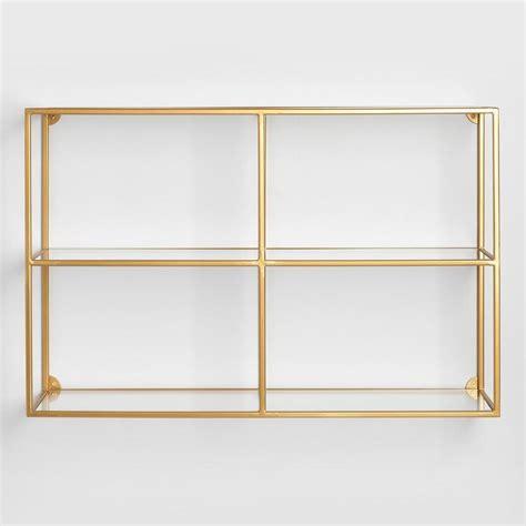 gold wall shelves clad rectangular gold brackets wall shelf