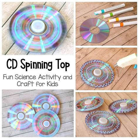 7 Great Cds For Children by Cd Spinning Top Craft And Science Project For Buggy