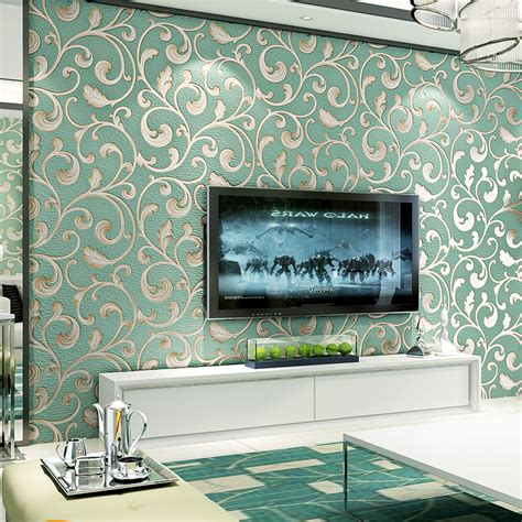 luxury damask wallpaper non woven breathable wallpaper
