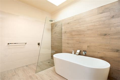 bathroom feature tiles ideas ceramic timber tiles bathroom renovation in belmont