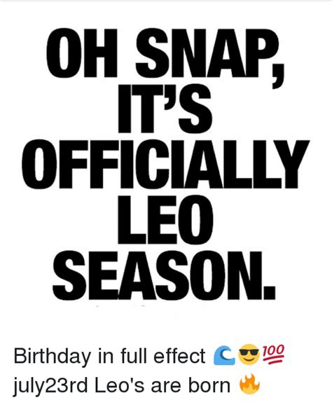 image gallery leo birthday meme