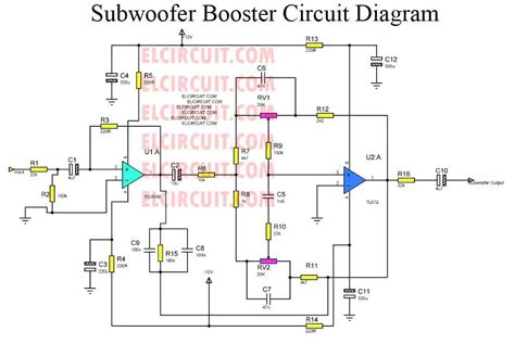 subwoofer booster circuit with pcb layout electronic circuit