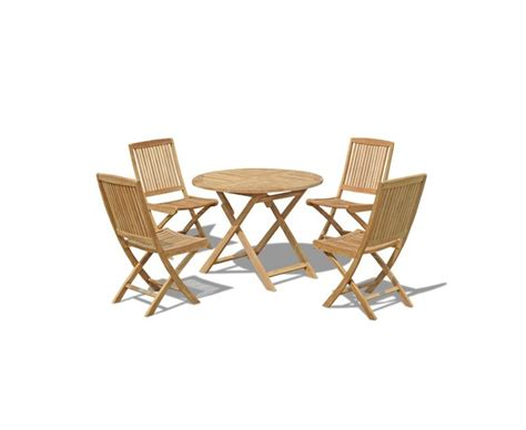 suffolk folding garden table 1m and 4 dining chairs set