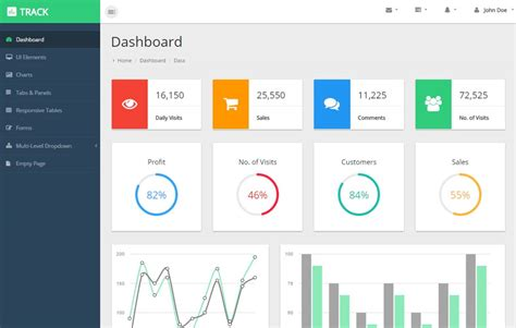 Html Material Design Admin Template Webthemez Material Design Website Template