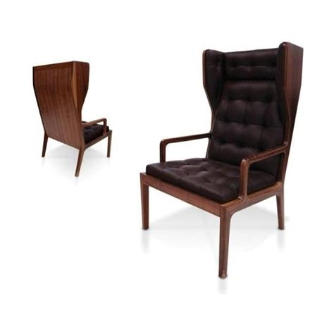 uk black leather wingback armchair from fusion living