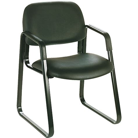 Safco Furniture by Safco Cava Collection Sled Base Guest Chair Black Vinyl