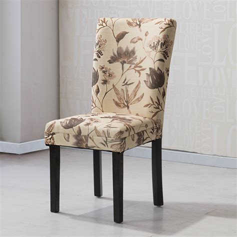 stanton tan floral print dining chairs set of 2 great hlw arbonni brown floral modern parson chairs set of 2