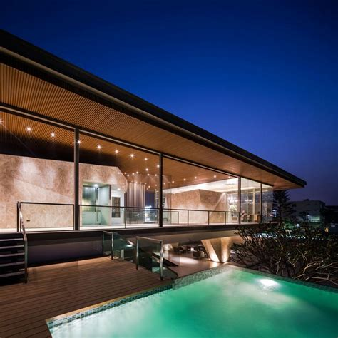 clubhouse floor plans with a cement deck escortsea cantilevered bangkok clubhouse by officeat