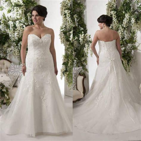 Plus Size Cheap Wedding Dresses by Plus Size Wedding Dresses Bodice Applique Lace