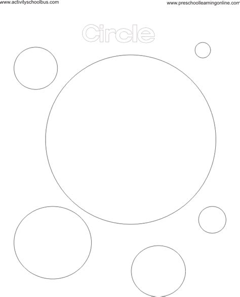 circle coloring pages preschool circle coloring page
