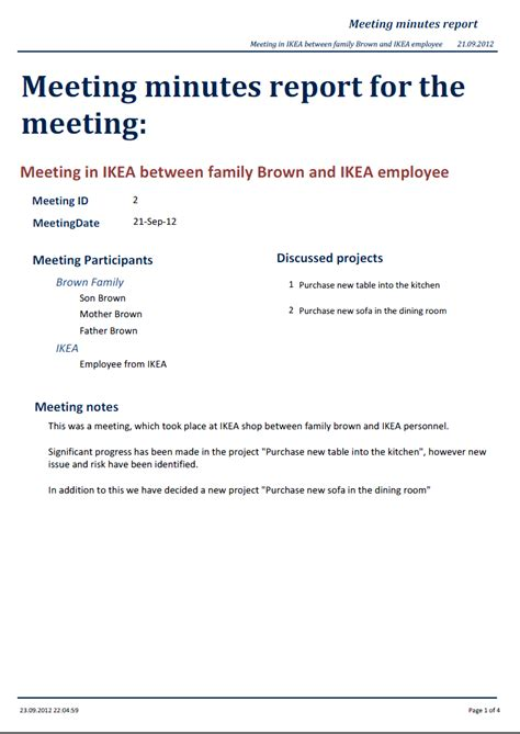 minutes format for meeting sample best sample meeting minutes