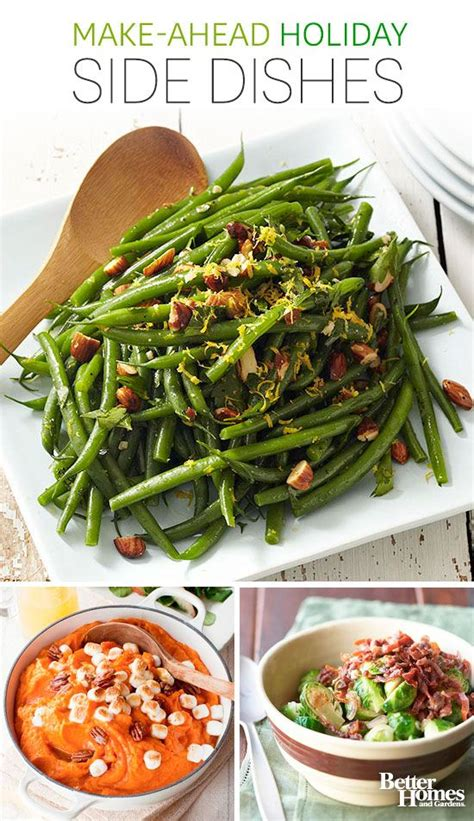 make ahead holiday side dishes thanksgiving sides homemade green bean casserole and thanksgiving