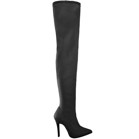 womens stretch the knee thigh boots fitted leg