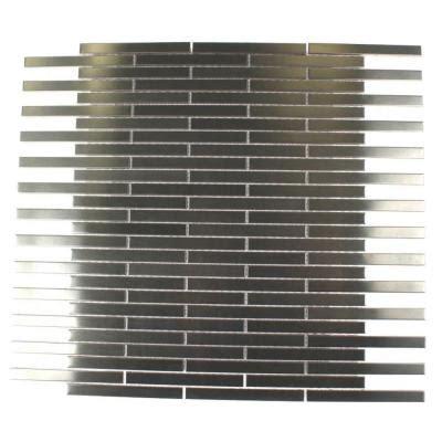 Stainless Steel Tile Backsplash Home Depot by Splashback Tile Metal Silver Stainless Steel Stick 12 In