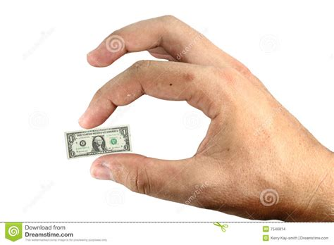 tiny small little money stock photo image of finger bankruptcy