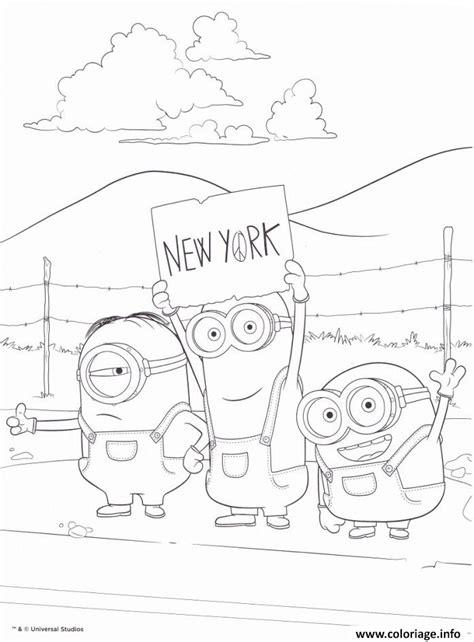 Coloriage Minion En Direction De Newyork Dessin Nyc Coloring Page