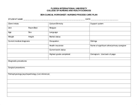 nursing care plan template nursing care plan template doliquid