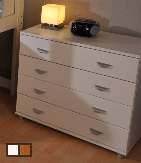 Stompa Drawers stompa 4 drawer chest with metal handles
