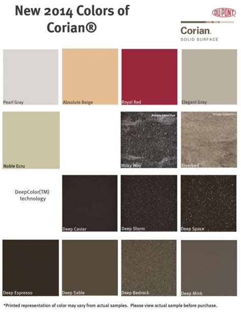 check out the new corian colors - Corian Colors 2014
