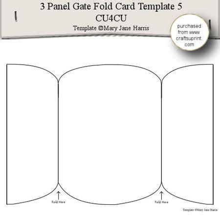 5x7 panel fold card template 3 panel gate fold card template 5 cu4cu special