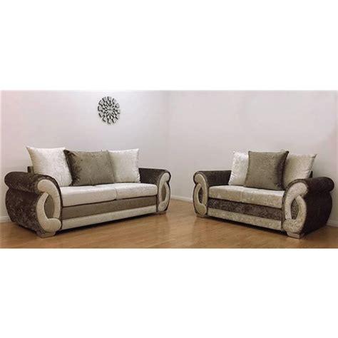 chloe velvet sofa chloe 3 and 2 crushed velvet sofa in truffle colour