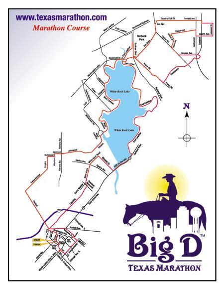 marathon texas map big d texas marathon 2014 2015 date registration course map route