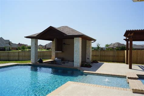 swim up bar pavilion traditional pool dallas by dfw creative homes renovation