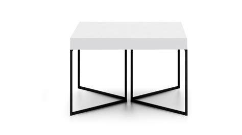 table basse hauteur 40 cm kufstein blanc pied m 233 tal noir