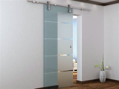 porte coulissante en applique glassy h205 x l83 cm